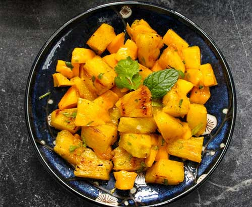 Grilled Pineapple and Mango Salad by Slade Grove