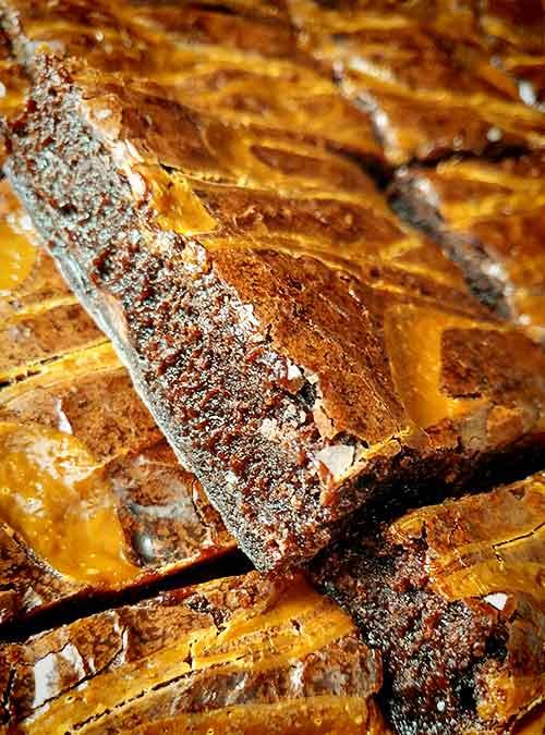 Caramel Swirl Double Chocolate Brownie by Slade Grove