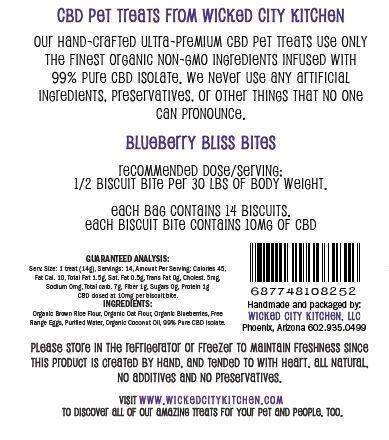 Blueberry Bliss CBD Pet Treat