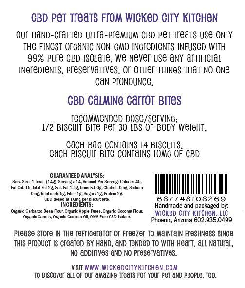 Calming Carrot CBD Pet Treat