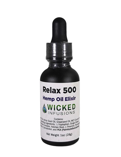 Relax 500 Hemp Oil Elixir